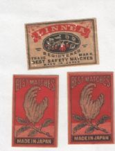Collectible OLD match box labels CHINA or JAPAN patriotic #753